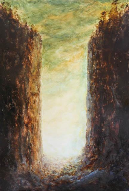 Trouée de lumière - huile sur toile, 130x90 Dominique Martigne 2011