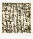 Bambous brun noir  2 - Dominique Martigne - 15x15 cm - 2016  - D