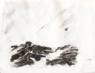 Monotype sur papier japonais - Dominique Martigne - 2016