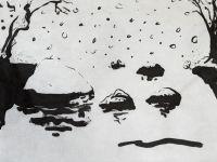 Dominique Martigne dessin encre de chine - 2015
