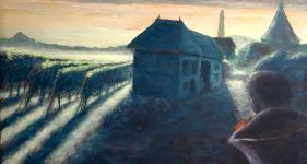 Vendanges - Huile sur bois - 45x90 - 2008