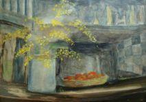 Mimosas - Acrylique sur toile 90x130 - 2008