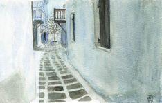 Rue de Mikonos - Grèce
