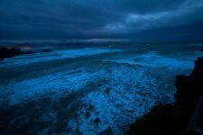 Biaritz nuit de tempête bleue