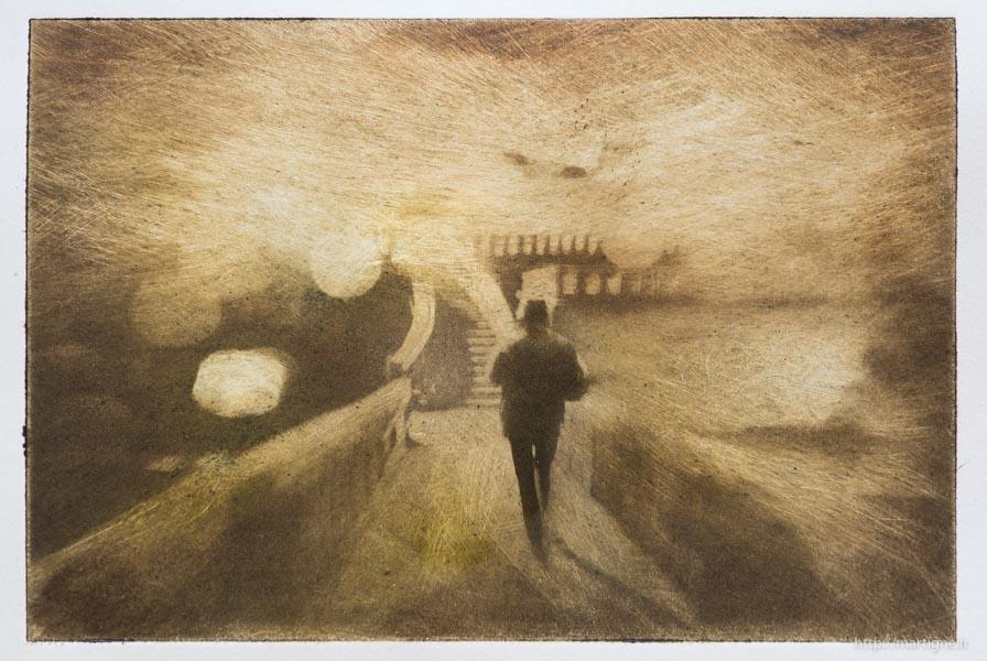 En marchant la nuit à cestas - photo Dominique Martigné 2016