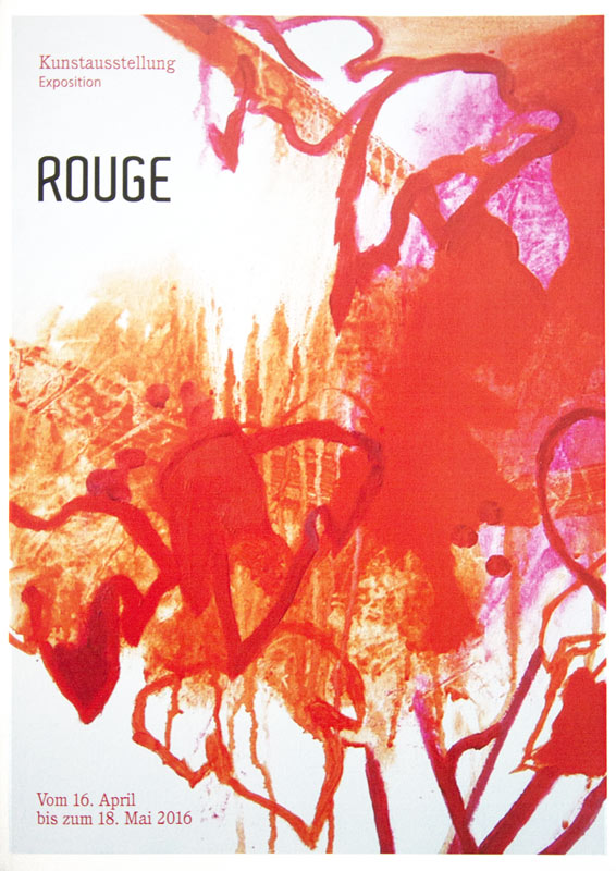 Exposition Rouge affiche