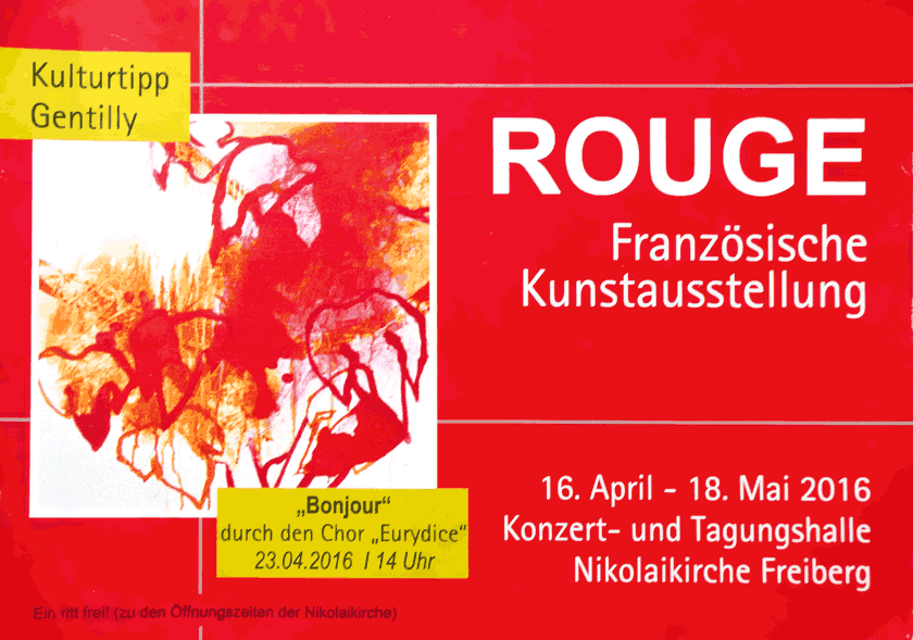 Exposition « ROUGE » à Freiberg (Allemagne) – avril/mai 2016